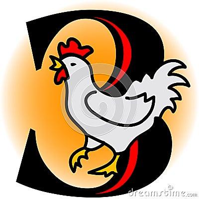 Três galinhas francesas/eps