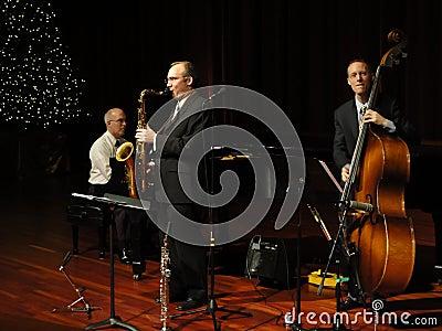 Trío de la venda de jazz de Trifecta Imagen de archivo editorial