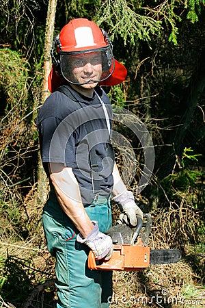 Trabajador de la silvicultura