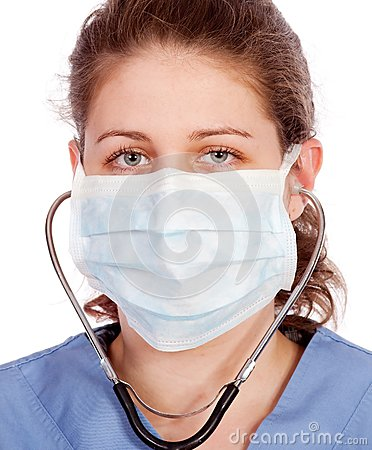 Trabajador médico joven