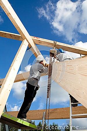 Trabajadores de construcción auténticos