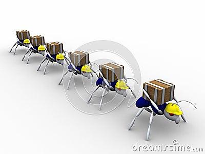 Trabajadores de la hormiga