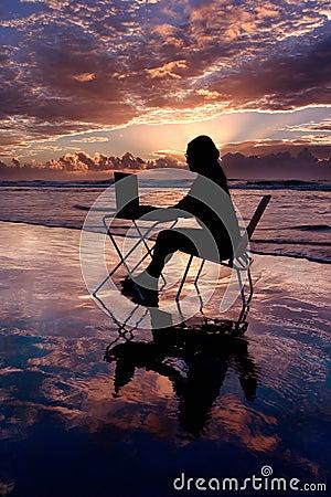 Trabajo con la computadora portátil