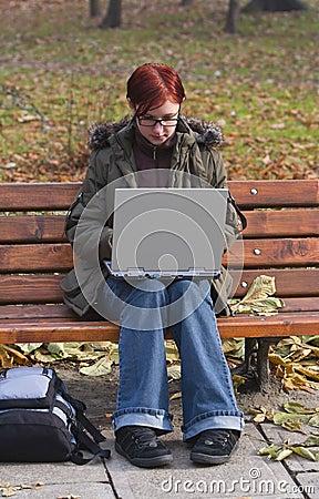 Trabajo en la computadora portátil