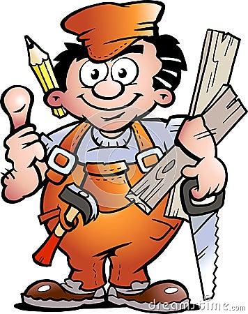 Trabalhador manual do carpinteiro