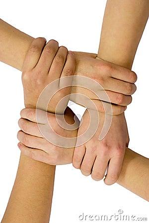 Trabalhos de equipa e amizade
