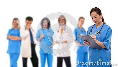 Trabalhos de equipa médicos
