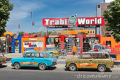 Trabant museum and also renting a car for a Trabant safari in the center of Berlin Editorial Stock Photo