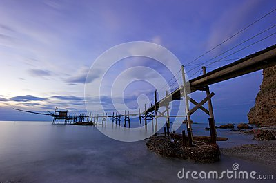 Trabucco, Old Fishing Machine Royalty Free Stock Photo - Image: 24694675