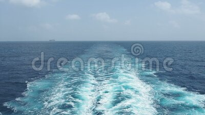 Trace Of A Cruise Ship Hd 1080p Stock Footage Video Of Summer Outdoor 171499020