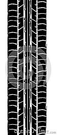 Trace de pneu