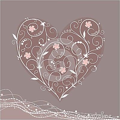 Tracery heart