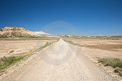 Track at bardenas reales