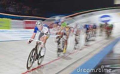 track bike race at  Sixday-Nights Zürich 2011 Editorial Photo