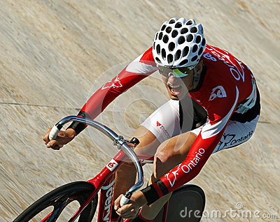 Track cyclist helmet sunglasses Editorial Photography