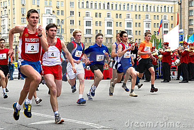 Track-and-field relay Editorial Image