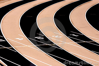 Track Field - Three Lanes