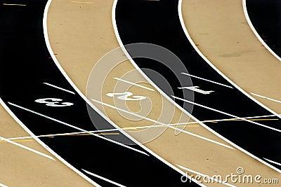 Track Field - Three Lanes