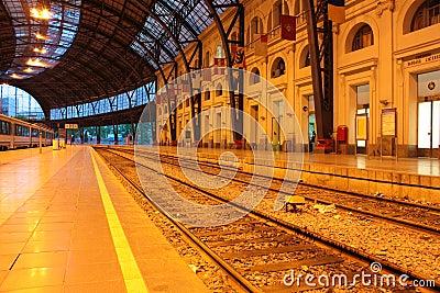 Track and station platforms