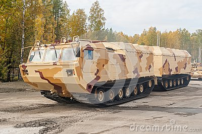 Tracked carrier DT-30P1. Russia Editorial Stock Photo