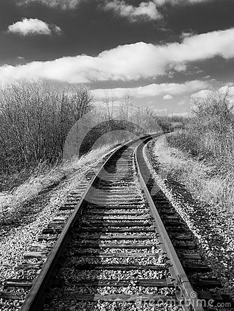Free Tracks Into Distance Royalty Free Stock Images - 49235079