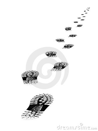 Free Tracks Of Shoes Royalty Free Stock Image - 2396906