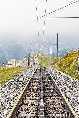 Free Tracks Of Swiss Cogwheel Train Stock Photo - 51484260