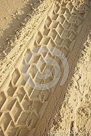 Free Tracks On A Sandy Beach Stock Photos - 1083003