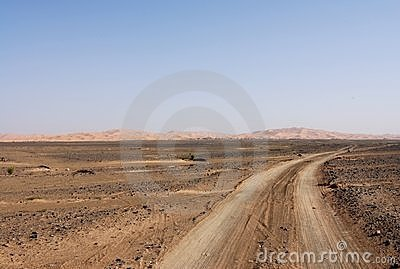 Tracks through the Sahara Desert