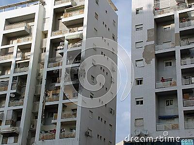 Tracks of terrorist rocket attack Editorial Image