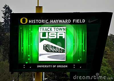 Tracktown USA Jumbo Tron Editorial Stock Photo