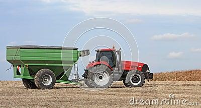 Tracter and Grain Wagon