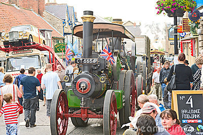 Traction Engine at the Pickering Rally. Editorial Image