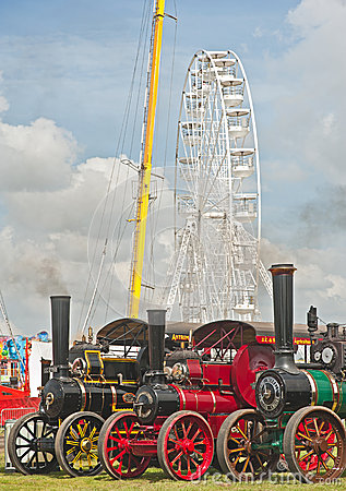 Traction Engines at Pickering annual Rally Editorial Stock Photo