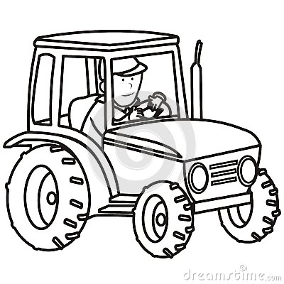 Free Tractor-coloring Book Royalty Free Stock Photo - 35384425