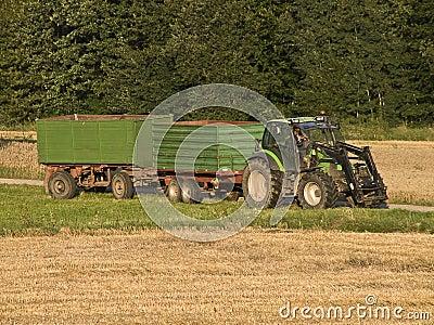 Tractor at crop