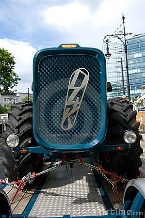 Tractor Dutra D4K the trailer Editorial Stock Photo