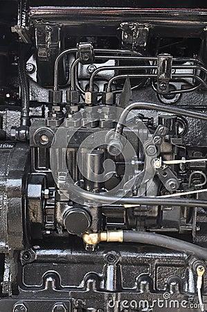 Tractor engine interior