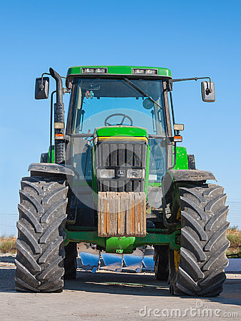 Tractor front view copy space Editorial Image