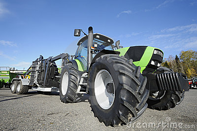 Tractor and giant tires