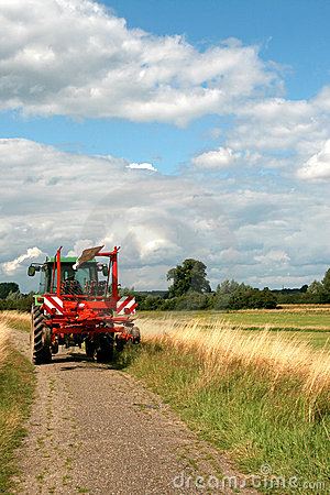 Tractor and hay tedder