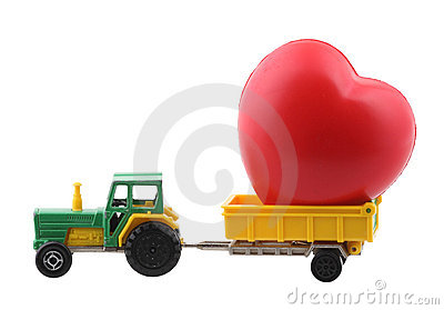 Tractor and heart
