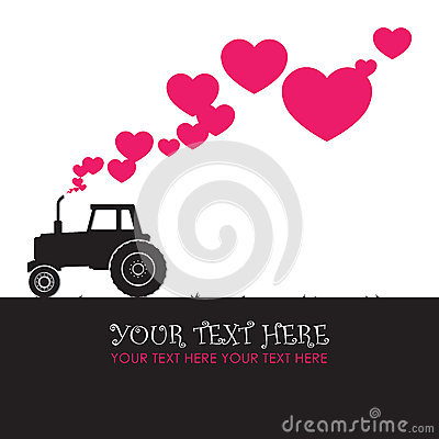 Tractor and hearts.