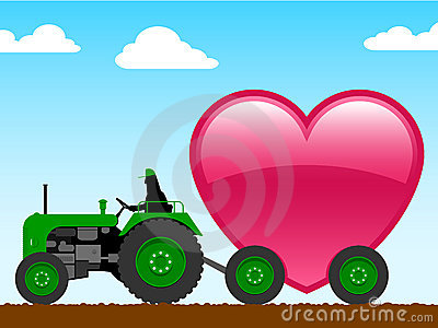 Tractor with huge heart
