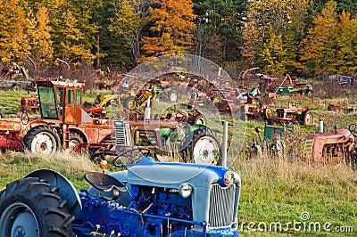 Tractor junkyard