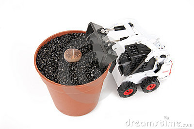 Tractor and Lithops pot