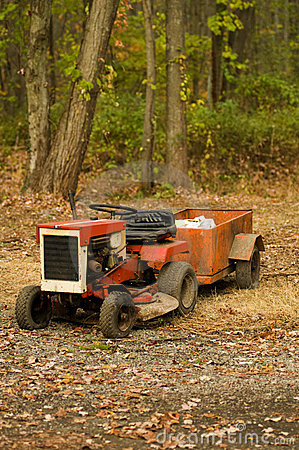 Tractor mower with hitch antique