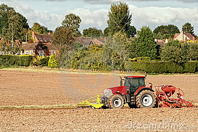 Tractor Planting Seeds