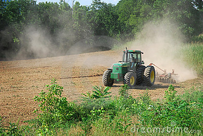 Tractor plowing a field Editorial Image