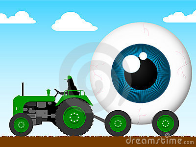 Tractor Pulling The Eye Of Giant Stock Image - Image: 8766651